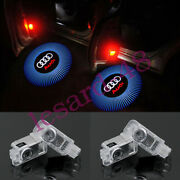 4pc Laser Led Hd Logo Door Lamps Puddle Courtesy Projector Shadow Light For Audi