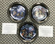 3 Plates Russian Christmas 1993 Byliny The Tale Of Father Frost Vladimirovich An