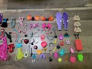 Huge Monster High Doll Lot Clothes Purses And Accessories 115 Pc