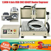 1.5kw 4 Axis Usb Cnc 6040t Router Engraver Pcb Pvc Milling Driiling Machine Er11