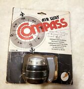Nos Vtg Airway Compass Black Accessory Auto Or Boat Air Way Model 592 Usa