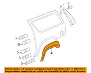 Chevrolet Gm Oem Ext-wheel Well Fender Flare Arch Molding Right 15944824
