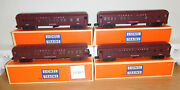 Lionel Lines 2625 2626 2627 2628 Madison Passenger 4 Cars Train O Scale Remakes