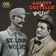 16 Abbott And Costello Whoand039s The First Baseman Statue Old And Rare 9006557