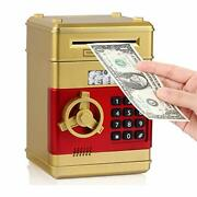 Electronic Real Money Coin Atm Machine Plastic Large Bank Safe Lock Box For Kids