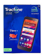 Tracfone Blu View 1 4g Lte Prepaid Smartphone Black 16 Gb Sim Card Included Cell