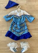 American Girl Doll Kaya Blue Jingle Dress Of Today For 18 Inch Doll-retired