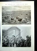 Antique Old Print Transvaal Battle Rietfontein Officers Killed Ambulance 1899