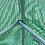 Outsunny Outdoor Portable Walk-in Tunnel Greenhouse W/ 12 Deep Green