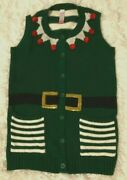 Womens New Christmas Sweaters Size S 4/6 Vest Ugly Cute Funny Santa Elf Costume