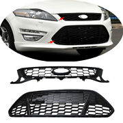 2pcs Front Bumper Upperandlower Air Intake Grille Fit For Ford Fusion Mondeo 11-13