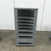 Equipto 10-drawer Industrial Parts Tool Storage Shop Cabinet 30x28x59