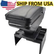 Xukey Universal Car Armrest Storage Leather Rotatable Arm Rest Center Console