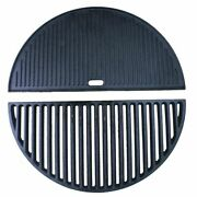 Half Moon Cast Iron Griddle For 21inch Kamado Bbq Grill Heat Absorption