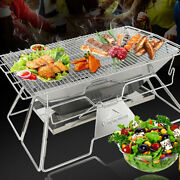 Outdoor Light Barbecue Grill Camping Equipment Foldable Firewood Bonfire Rack