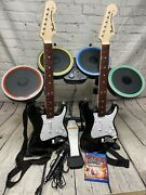 Rock Band 4 Ps4 Ps5 Bundle Playstation 4 Band In A Box Drums 2 Guitars Game Mic