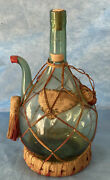 Very Old Hand Blown Vinrosa Glass Chianti Wine Cooler / Bottle / Decanter