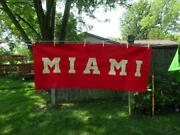 Early 1900s Rare Sports Banner Pennant Miami University Oxford Ohio Large Vg