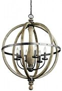 Evan - 6 Light Large Chandelier - With Lodge/country/rustic Inspirations - 37.25