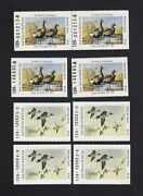 Texas Tx7-8 1987-1988 4 Of Each Duck Stamps Mnh Cat 80.00