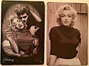 Two 8x12 Tin Signs Marilyn Monroe James Dean Destiny Icon Movie Actors Hollywood