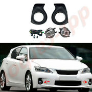 A Pair Led Front Bumper Fog Light Kits W/ Wire Harness For Lexus Ct200h 2011-13
