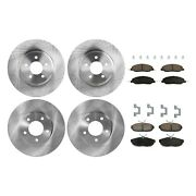 Brake Rotor Brake Pad Kit For 2005-2010 Ford Mustang Front And Rear Solid