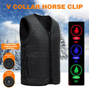 V Collar Usb Smart Heated Vest Inner Wearing Electric Thermal Winter Clothing