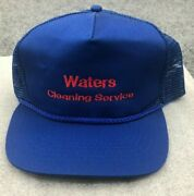 Vintage Otto Waters Cleaning Service Blue Mesh Back Snapback Adult Menand039s Hat