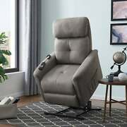 Copper Grove Polletts Grey Power Recline And Lift Chair Grey Standard