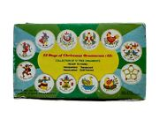 The 12 Days Of Christmas Vintage Glass Ornaments Set In Box By Trim A Tree
