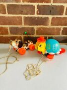 Fisher Price Pull Along Little Snoopy Dog 1965 And Turtle 1962