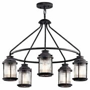 Ashland Bay - 5 Light Outdoor Chandelier - With Lodge/country/rustic
