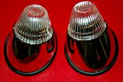 Vw Karmann Ghia Front Turn Signal Lights, Complete Kit, All Clear, All Years