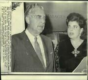 1969 Press Photo Former Governor Meyner And Wife Receive Election Returns