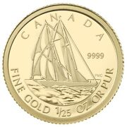 2012 Canada 50 Cents Bluenose 1/25 Ounce Pure Gold Coin