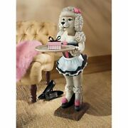 French Poodle Maid Sculptural Coffee Plant Serving Table Statue Stand