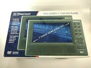 Emerson Pde-2725n Two Screen 7 Car Dvd Player Free Shipping