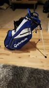 Taylormade Select Plus Golf Stand Bag - Blue/white Nearly New 5 Lbs. 7-way Top