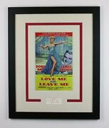 Doris Day Autograph Signed 16x20 Framed Poster Photo Love Me Or Leave Me Acoa