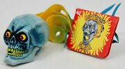 Rare Vintage Burning Skull Antenna Topper Nos - Articulated Mouth