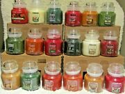 Yankee Candle Small 3.7 Oz. Classic Jars - Thanksgiving And Christmas Lot Of 18