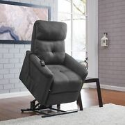 Copper Grove Polletts Grey Microfiber Power Recline And Lift Grey Standard