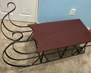 Vintage Sleigh Coffee Table Rustic, Shabby Chic, Sled, Holiday, Christmas, Lodge