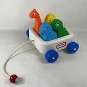 Vintage Little Tikes Wagon 'n Friends Animal Pals Pull Along Toy 1980's Complete