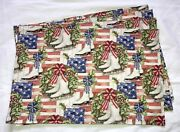 Christmas Holiday Winter Ice Skates Flags Holly Wreath Set Of 4 Placemats