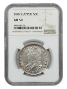 1807 50c Ngc Au50 Capped 50/20 Scarce Issue - Bust Half Dollar - Scarce Issue