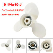 Boat Propeller 9 1/4x10-j For Yamaha Outboard Motor 9.9hp 15hp 20hp T8 T9.9 F9.9
