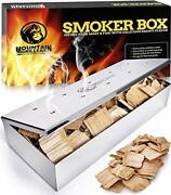 Smoker Box For Wood Chips - Use A Gas Or Charcoal Bbq Grill And Still Get