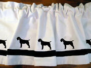 Wirehaired Pointing Griffon Dog Window Valance Curtain In Your Choice Of Colors